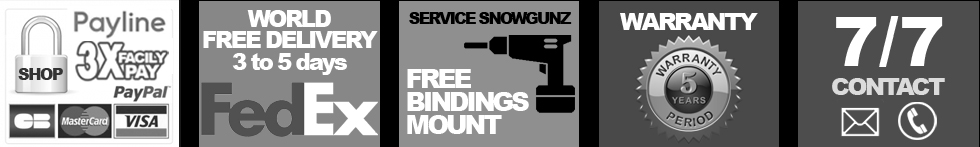 Free Bindings mount by our experts - Snowgunz