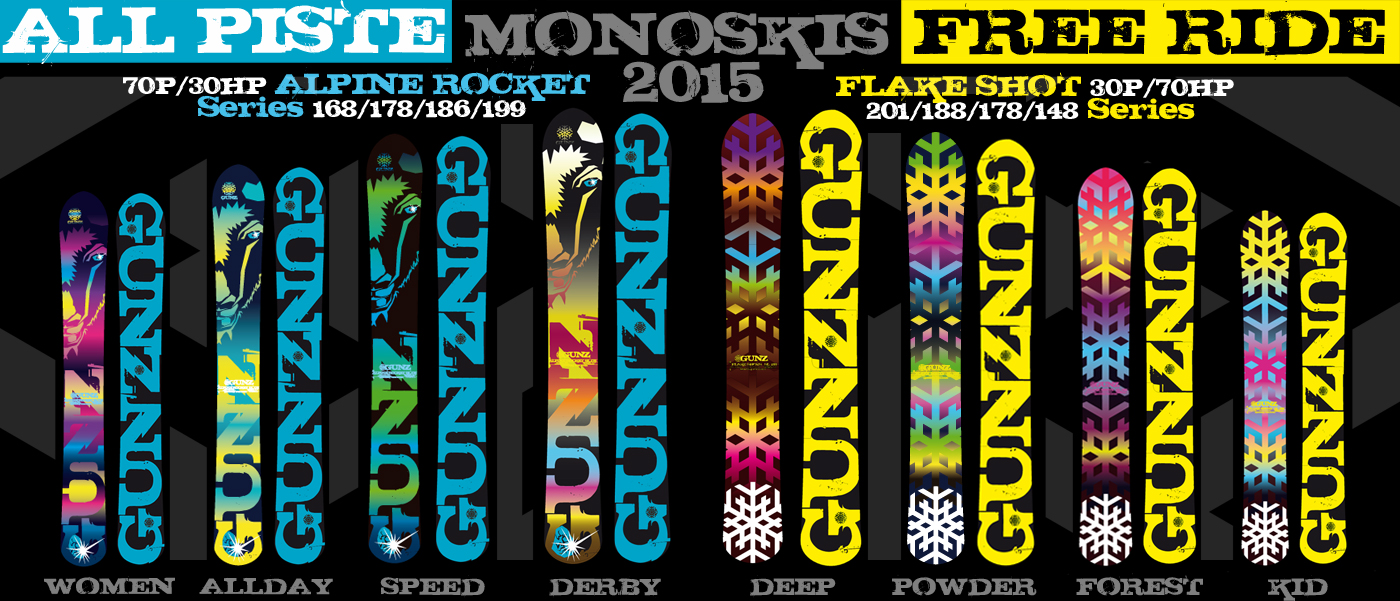 Monoski Snowgunz Collection 2014